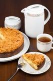 Pastel de queso de la cabaña Fotografía de archivo