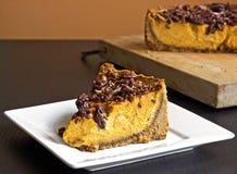 Pastel de queso de la calabaza Fotos de archivo