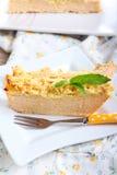 Pastel de queso de la calabaza Imagenes de archivo
