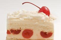Pastel de queso de la cereza Imagenes de archivo
