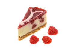 Pastel de queso de la frambuesa Imagen de archivo libre de regalías
