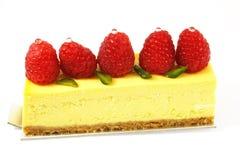 Pastel de queso de la frambuesa Fotos de archivo libres de regalías