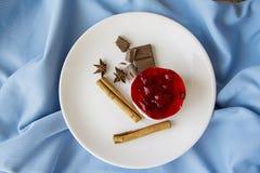 Pastel de queso de la frambuesa del postre fotografía de archivo libre de regalías