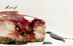 Pastel de queso de la fresa fotografía de archivo libre de regalías