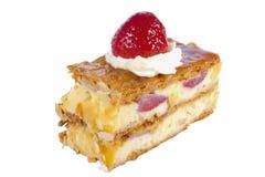 Pastel de queso de la fresa Imagen de archivo libre de regalías