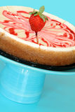 Pastel de queso de la fresa Fotos de archivo