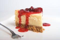 Pastel de queso de la fresa Imagen de archivo