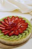 Pastel de queso de la fruta Imágenes de archivo libres de regalías
