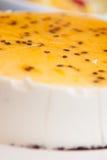 Pastel de queso de la granadilla Fotos de archivo libres de regalías