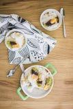 Pastel de queso de la mandarina Fotos de archivo libres de regalías