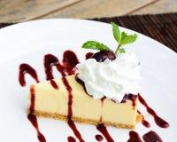 Pastel de queso de la uva Fotografía de archivo
