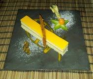 Pastel de queso de Maracuya Imagen de archivo libre de regalías