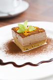 Pastel de queso de Mocca fotos de archivo libres de regalías