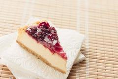 Pastel de queso de Nueva York Imagen de archivo