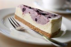Pastel de queso del arándano Imagen de archivo