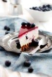 Pastel de queso del arándano Fotografía de archivo libre de regalías