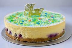 Pastel de queso del arándano Foto de archivo