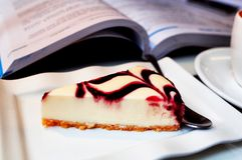 Pastel de queso del arándano Fotografía de archivo