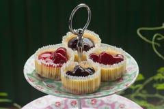 Pastel de queso del arándano y de la fresa Fotografía de archivo libre de regalías