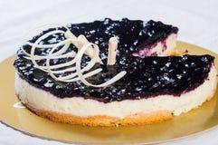 Pastel de queso del arándano Imagenes de archivo