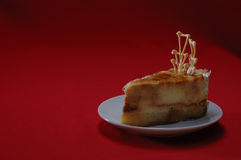 Pastel de queso del caramelo fotos de archivo
