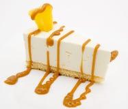 Pastel de queso del caramelo Fotos de archivo libres de regalías