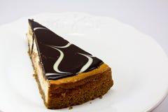Pastel de queso del chocolate Fotografía de archivo