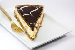 Pastel de queso del chocolate Foto de archivo