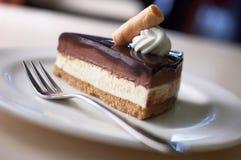 Pastel de queso del chocolate Imagen de archivo