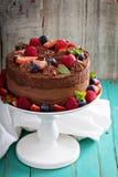 Pastel de queso del chocolate y torta de la comida del diablo Imagen de archivo libre de regalías