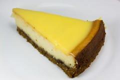 Pastel de queso del limón Imagenes de archivo