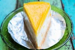 Pastel de queso del limón Imagen de archivo