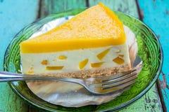 Pastel de queso del limón Foto de archivo