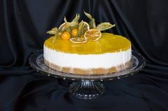 Pastel de queso del limón Fotografía de archivo