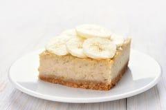 Pastel de queso del plátano Foto de archivo libre de regalías