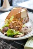 Pastel de queso del pollo Imagen de archivo