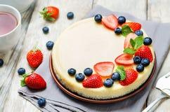 Pastel de queso del Ricotta fotografía de archivo libre de regalías