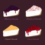 Pastel de queso del vector Foto de archivo libre de regalías