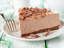 Pastel de queso frío del chocolate Imágenes de archivo libres de regalías