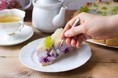 Pastel de queso hecho en casa Imagen de archivo libre de regalías