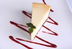 Pastel de queso hermoso Fotografía de archivo