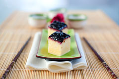 Pastel de queso japonés Foto de archivo libre de regalías