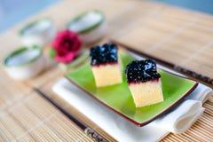 Pastel de queso japonés Fotos de archivo