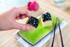 Pastel de queso japonés Imagen de archivo libre de regalías