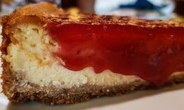 Pastel de queso de la frambuesa fotos de archivo
