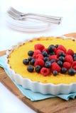 Pastel de queso libre del Ricotta del gluten Foto de archivo libre de regalías