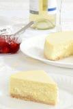 Pastel de queso llano del primer Foto de archivo libre de regalías