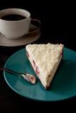 Pastel de queso y café Fotos de archivo libres de regalías