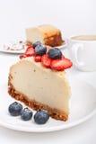 Pastel de queso y café Imagen de archivo