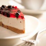 Pastel de queso y té Fotografía de archivo libre de regalías
